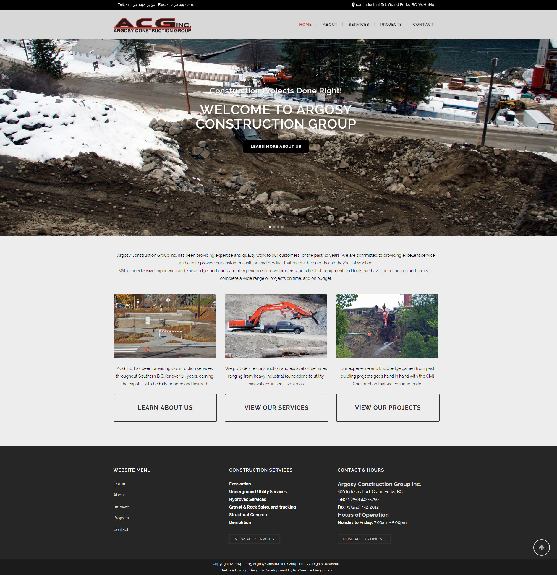 Argosy Construction Group Inc