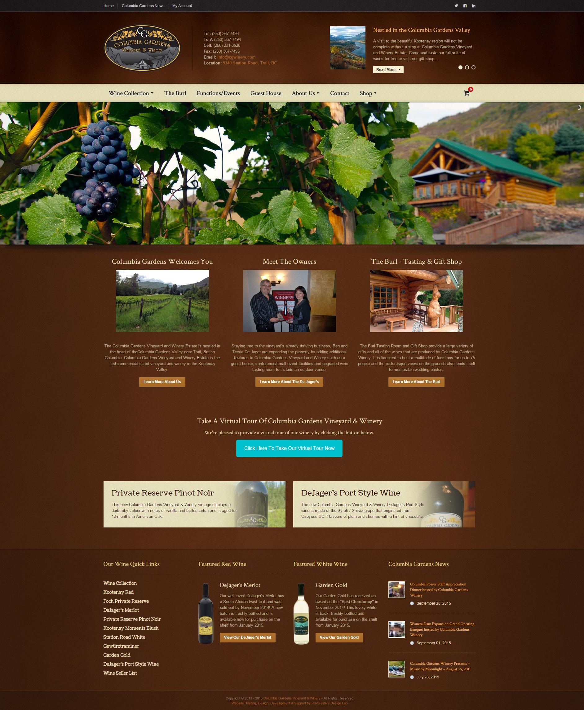 Columbia Gardens Vineyard and Winery