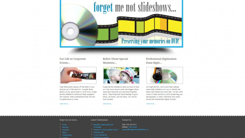Forget Me Not Slideshows